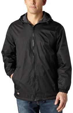 Dickies Men's Fleece Lined Hooded Jacket, Black, 5XL