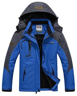 Men's Fleece Outerwear Jackets Outdoor Waterproof Coat Athle