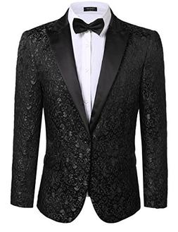 Coofandy Mens Floral Party Dress Suit Stylish Dinner Jacket