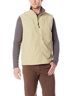 ExOfficio Men's Flyq Lite Vest, Light Khaki, Large