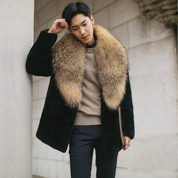 <font><b>men</b></font> clothing furs 2018 overcoat winter t