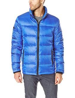 Calvin Klein Men's Four Layered Down, Royal Blue, Medium