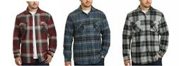 Freedom Foundry Men's Plaid Fleece Jackets Super Plush Sherp