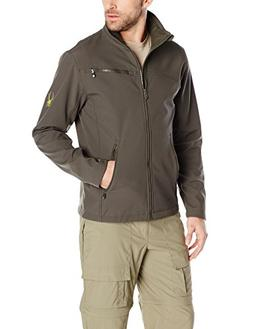 Spyder Men's Fresh Air Softshell Jacket, Osetra/Acid, X-Larg