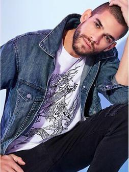 G By Guess Men's Dan Distressed Denim Jacket