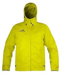 Grunden Men's Gage Weather Watch Jacket, Hi Vis Yellow, Larg