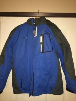 Gemsye Mens Ski Jacket Medium Blue/Grey NWT