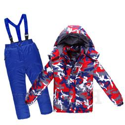 Girls Boys Snowsuit Set Waterproof Children Adult Warm Ski S