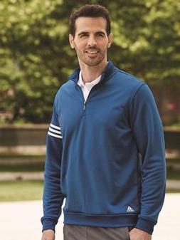 Adidas - Golf ClimaLite 3-Stripes French Terry Quarter-Zip P