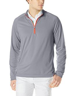 adidas Golf Men's Climawarm 3-Stripes 1/2 Zip Training Top,