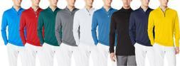 Adidas Golf Men's Adi 3-Stripes Classic 1/4 Zip Jacket, Colo