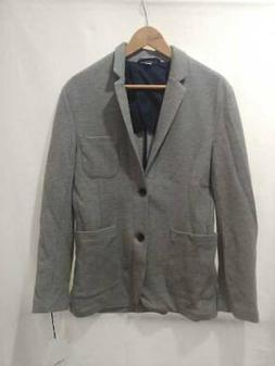 Goodfellow & Co Mens Knit Blazer Jacket Gray Heathered Stand