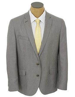 Kenneth Cole Mens Gray Check Slim Fit Sport Coat Jacket- Siz