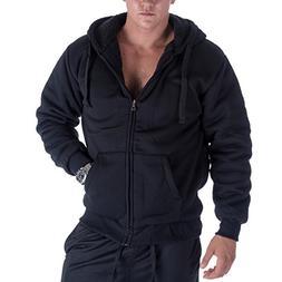 Heavyweight 1.8 lb Full-Zip Sherpa Lined Fleece Hoodies for