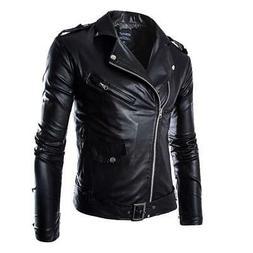 heflashor autumn men fashion motorcycle leather jacket