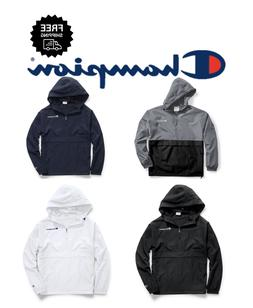 CHAMPION Hooded Pullover Jacket Packable Men's Windbreaker -