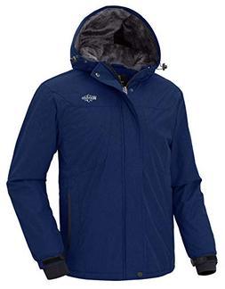 Wantdo Men's Hooded Skiing Jacket Mountaineering Waterproof