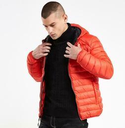 Hot Men's Fashion Short Slim Down Cotton Jacket Coat Hood Pa
