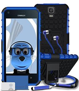 Huawei Y3 / Y360 / Ascend Y3 Blue Shock Proof Rugged Hard Ca