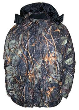 WFS Mens 4in1 Hunting Jacket Parka Burly Camo