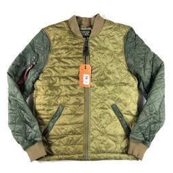 Alpha Industries Ally Bomber Jacket Olive Men Size Medium