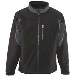 RefrigiWear Men's Insulated Softshell Jacket, Black, 3XL