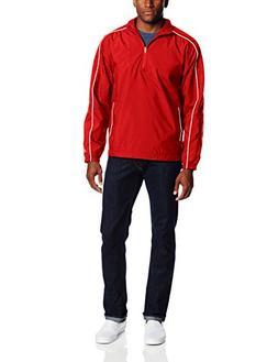 Champion Men's Intensity 1/4 Zip Jacket, Scarlet/White, XX-L