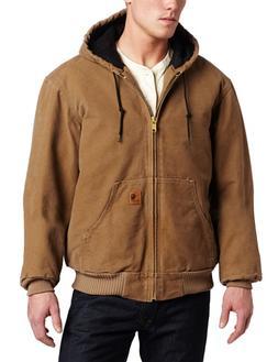 Carhartt Men's J130 Sandstone Duck Active Jacket - Quilted F