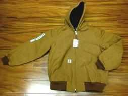 Carhartt J140 Quilted Flannel Lined Duck Active Jacket Brown