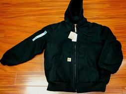 Carhartt J140 Quilted Flannel Lined Duck Active Jacket Black