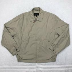 London Fog Jacket Adult Large Beige Brown Full Zip Lightweig