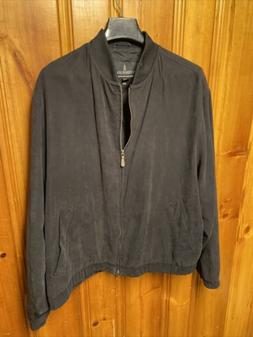 London Fog Jacket Coat Mens XL Black Full Zip Up Front