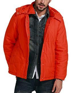 Match Men's Jacket Outwear Hooded Parka Coats, G1112 Orange)