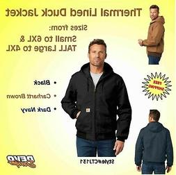 Carhartt Jacket Thermal Lined Duck Active Full Zip Men's Coa