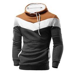 REYO Men's Jackets Casual Sale, Men Retro Long Sleeve Hoodie