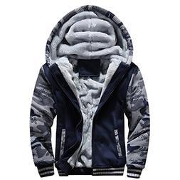 Men Coats And Jackets Winter Sale Warm Fleece Hood Zipper Sw