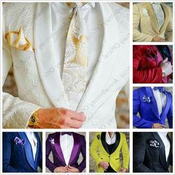 Jacquard Wedding Suit For Men Slim Fit Men's Suits with Pant