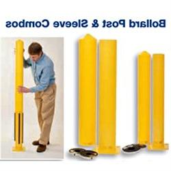 Eagle 1744PS Steel Bollard Post and Poly Sleeve Combos with