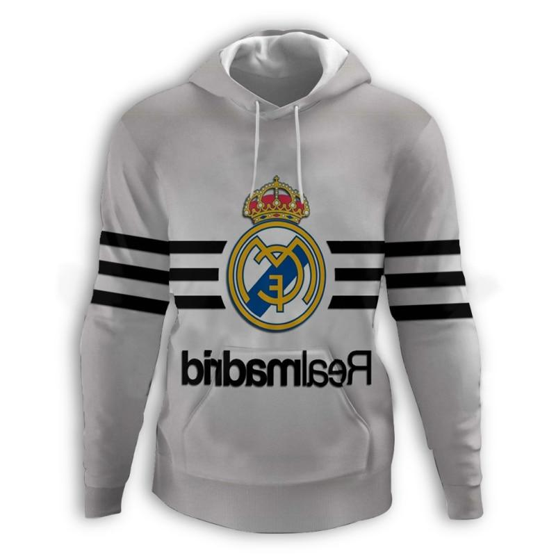 with hat Casual Fashion 12 <font><b>Champions</b></font> Madrid Hoodies cup