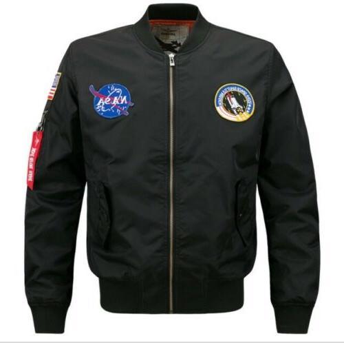 2020 fashion us men nasa jacket embroidered