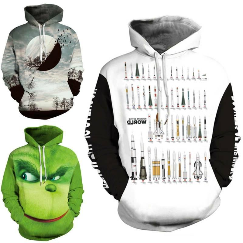 3D Cartoon Print Men Women Sweatshirt Jumper Unisex Top