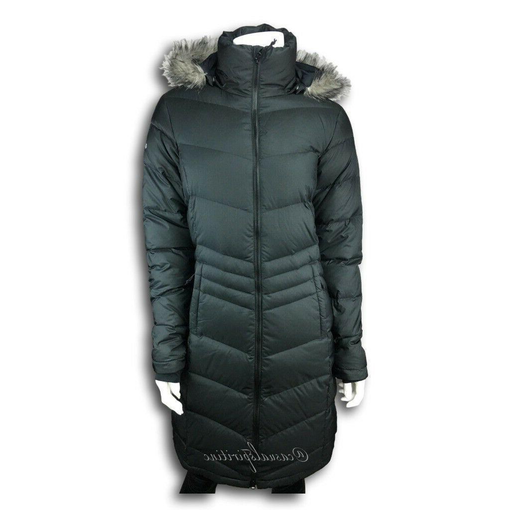 $240 Columbia Women Polar Freeze Long Down Jacket Omni Heat Winter Coat L