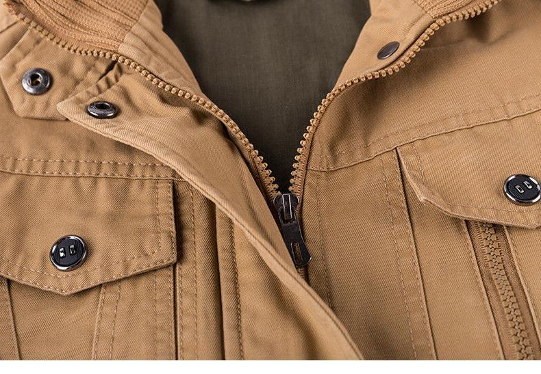Mens Bomber Military Zipper Work Army Coat