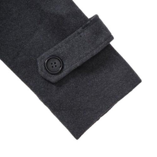 Mens Gentlemen Double Long Trench Jacket Outwear