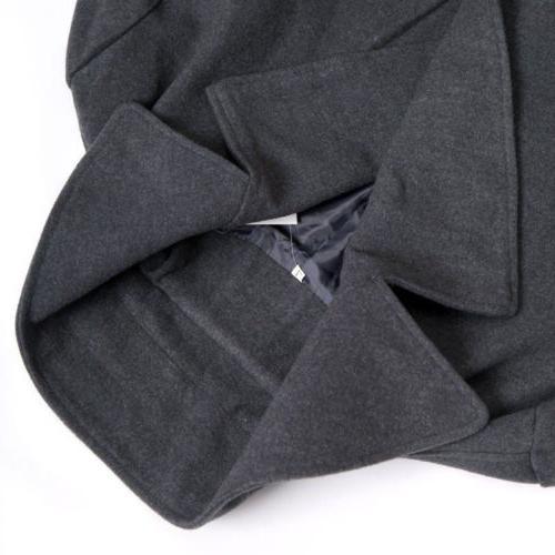 Mens Gentlemen Double Long Coat Jacket Outwear