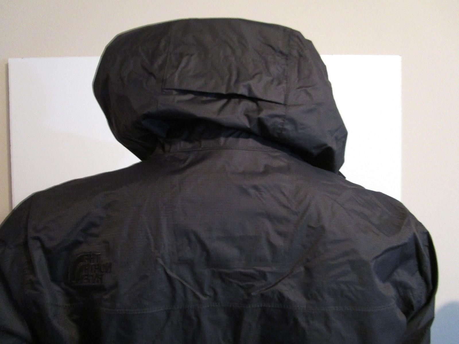 Mens The Face Hooded Rain Black