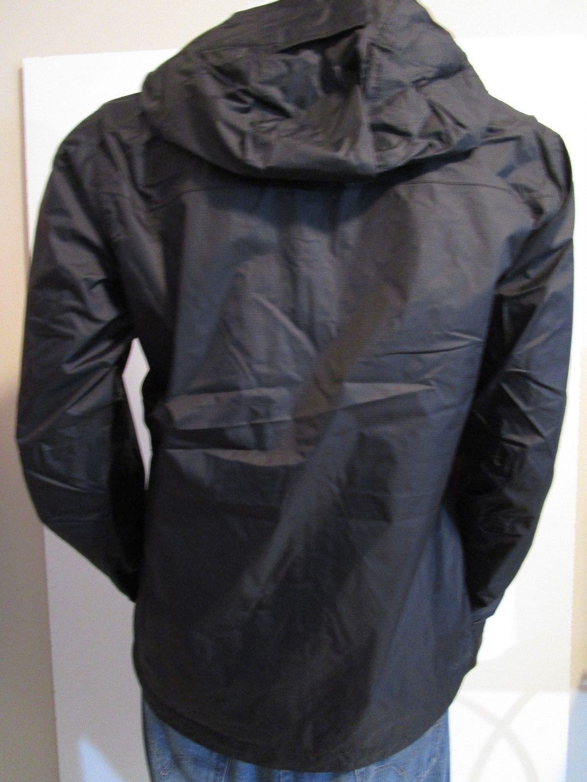 Mens TNF Hooded Rain Black