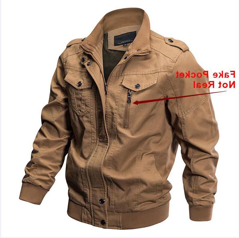 TACVASEN Mens Pilot Force One Jackets