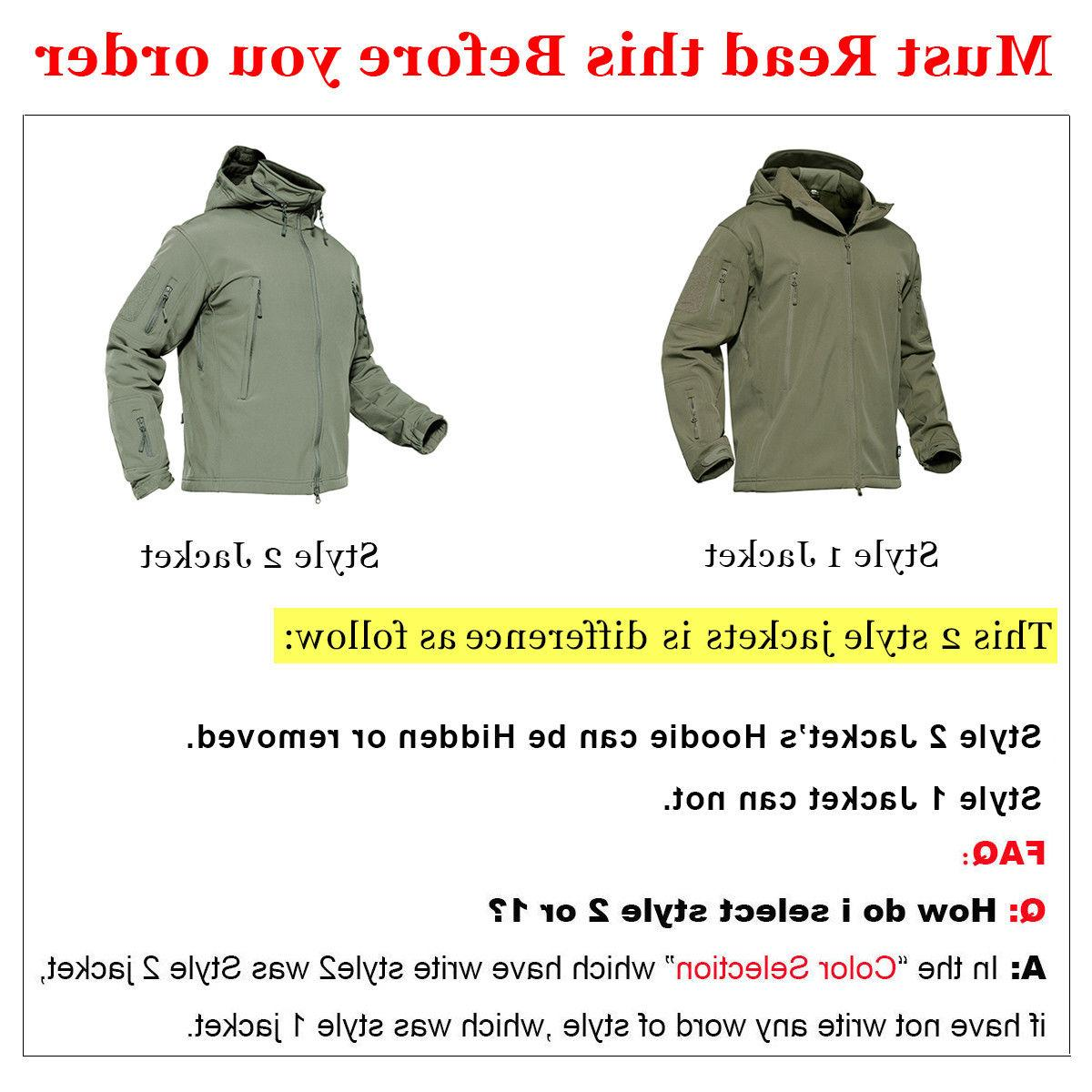 Waterproof Mens Coat Military Jacket