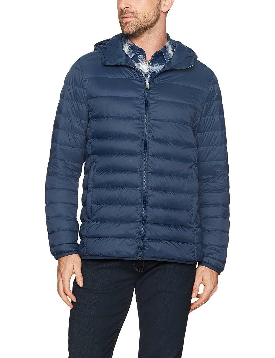 Amazon Men's Water-Resistant Packable Hooded Jacket